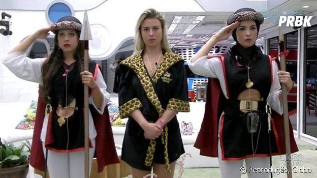 """""""BBB13"""": Andressa e Kamilla tiveram que proteger a líder Fernanda no Castigo do Monstro"""