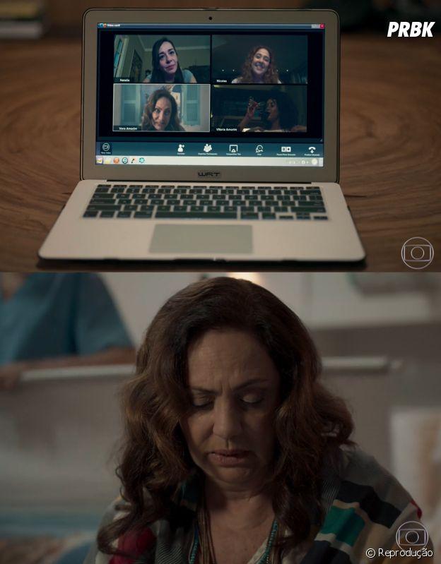 """""""Amor de Mãe"""": como Vitória (Taís Araújo) não percebeu que sua mãe usava fundo falso na chamada de vídeo?"""