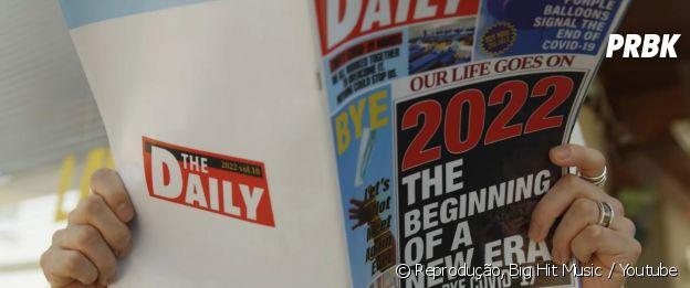 BTS: Suga lê matéria sobre nova era em 2022