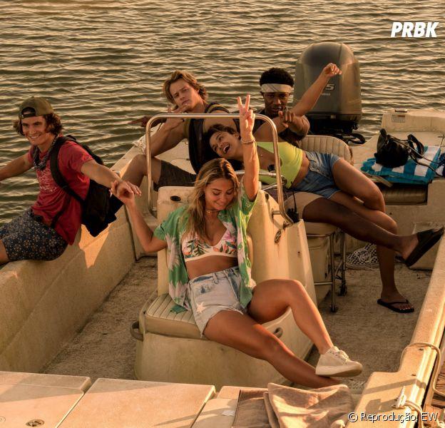 """""""Outer Banks"""": elenco divulga detalhes da 2ª temporada em entrevista a Entertainment Weekly"""