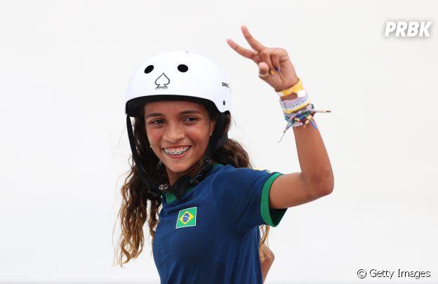 Rayssa Leal ficou em segundo lugar no skate street nas Olimpíadas de Tóquio