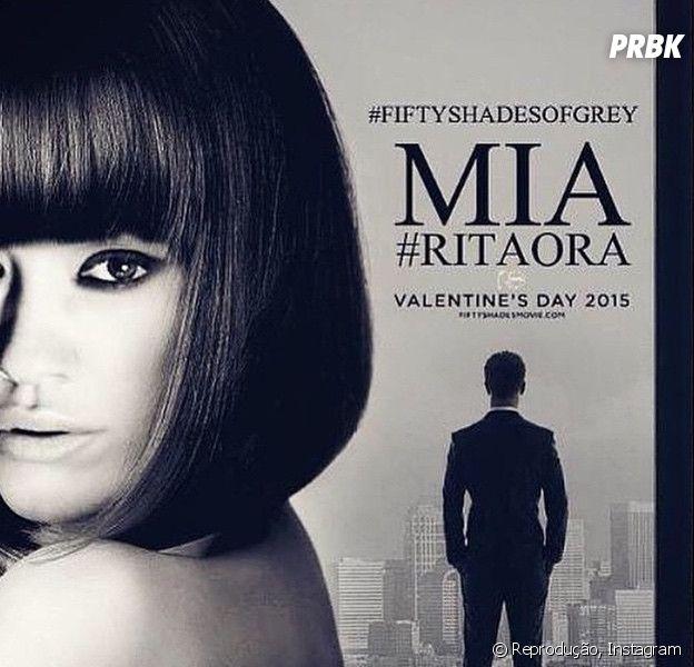 "Rita Ora interpreta Mia Grey em ""Cinquenta Tons de Cinza"""