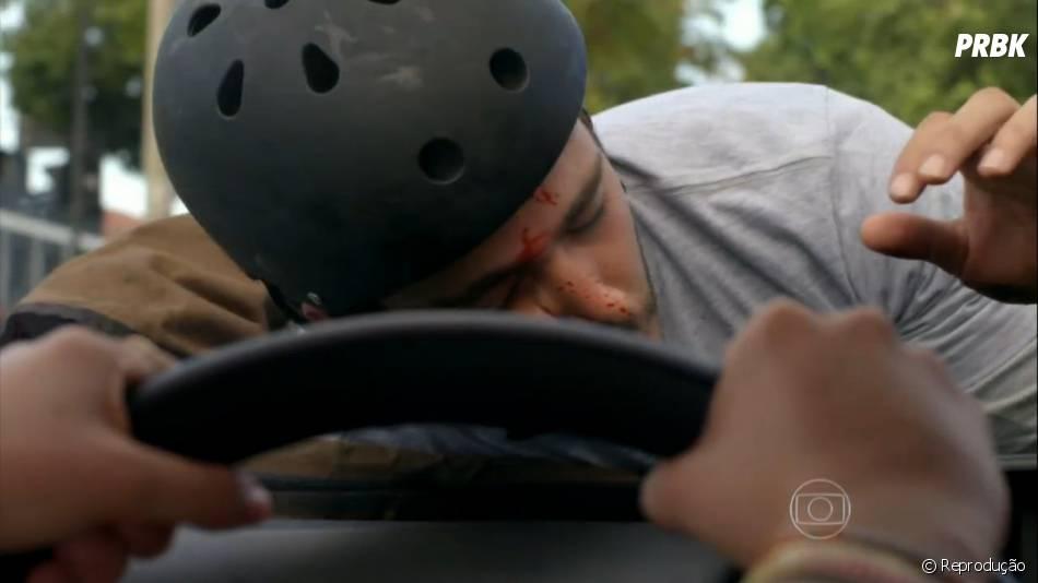 """William (Thiago Rodrigues) se feriu no rosto em""""Além do Horizonte"""""""
