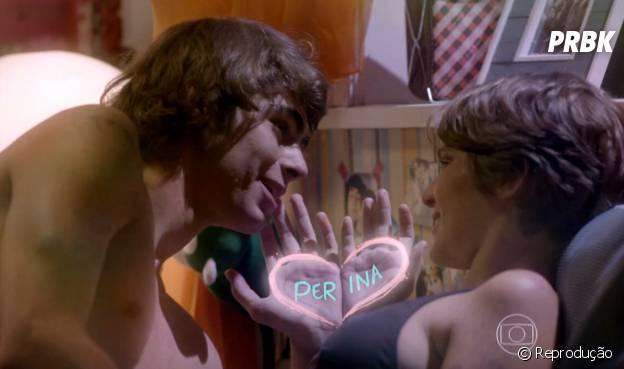 """Pedro (Rafael Vitti) e Karina (Isabella Santoni) tiveram uma noite mágica em """"Malhação"""""""