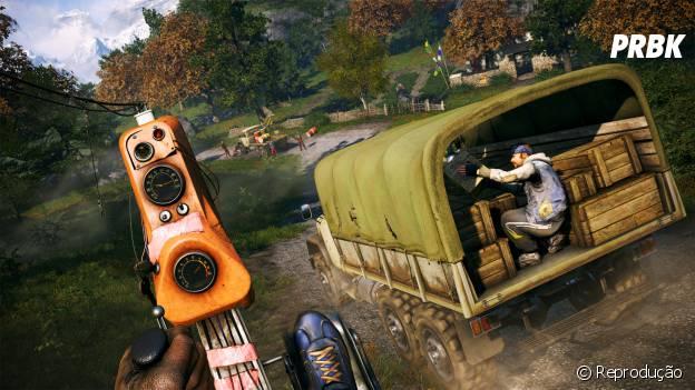 """Printscreen das novas missões de """"Far Cry 4"""" que chegam com o pacote """"Hurk Deluxe"""""""