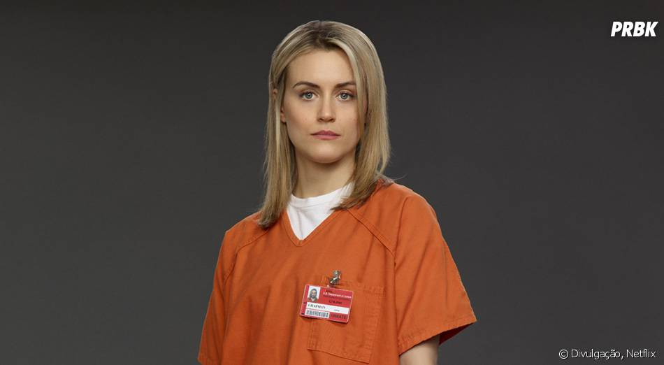 "Em ""Orange is the New Black"", a protagonista Piper (Taylor Schilling) vai parar na prisão"