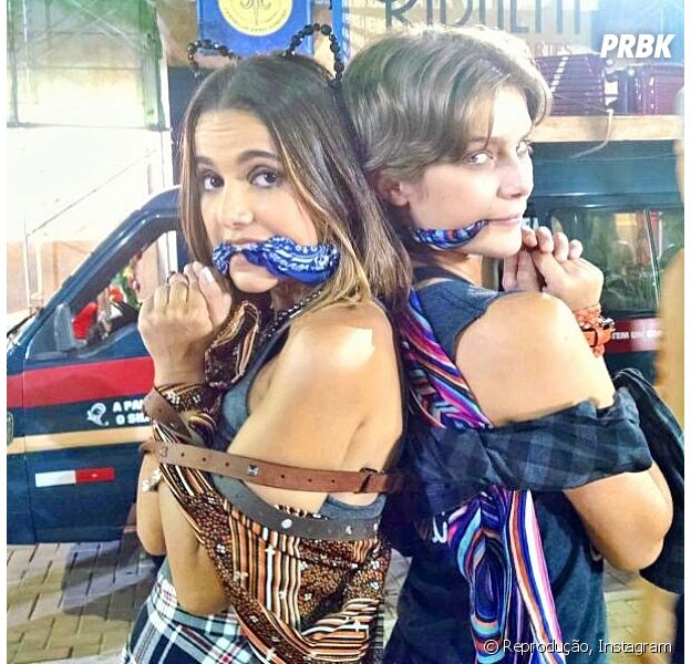 "Manu Gavassi (Vicki) e Isabella Santoni (Karina), de ""Malhação"", posam no Instagram"
