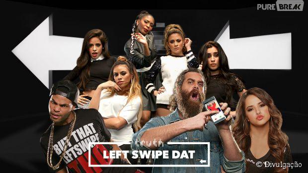 """Fifth Harmony e Becky G cantam juntas na campanha """"Left Swipe Dat"""", contra o cigarro"""