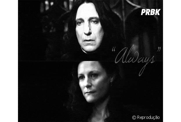"""Muito amor por Lily e Snape em """"Harry Potter"""""""