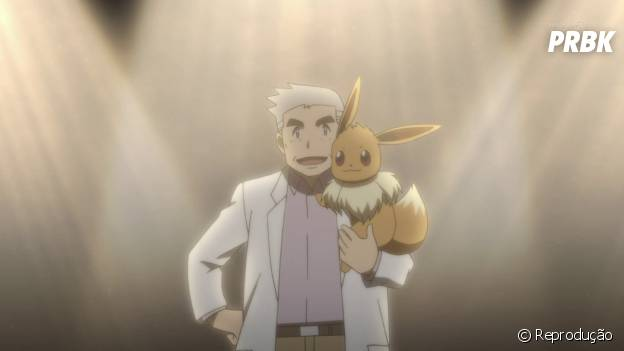É possível batalhar contra o professor Carvalho e seu time é formado por Tauros, Exeggutor, Arcanine, Gyarados, e a última forma do Pokémon inicial não escolhido pelo jogador ou rival