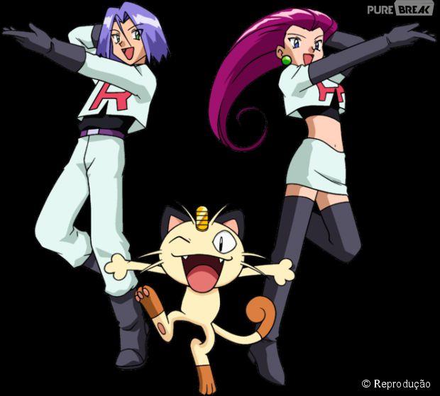 Os vilões de Pokémon Jesse e James foram inspirados em um fora da lei do velho oeste chamado Jesse James. E não na cantora Jessie J. (risos)
