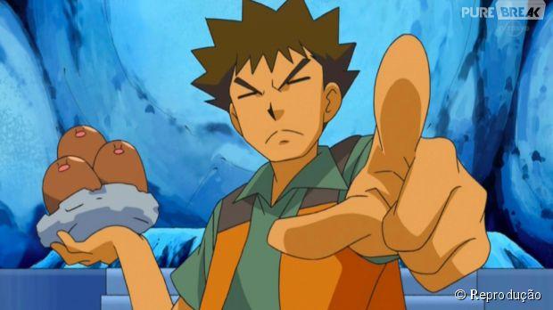"""Brock sem o """"B"""" fica Rock (pedra em inglês), seu tipo de Pokémon favorito. Já Arbok ao contrário fica Kobra. E Ekans vira Snake (cobra em inglês)"""