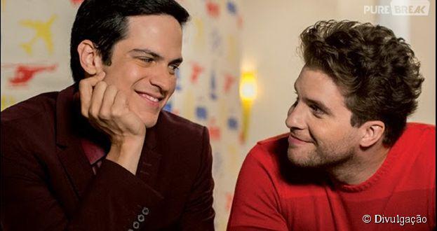 """Félix (Mateus Solano) e Nico (Thiago Fragoso) formaram casal gay em """"Amor à Vida"""""""