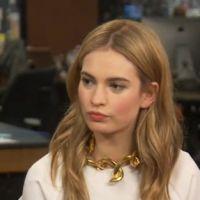 """Lily James, de """"Cinderela"""", comenta polêmica sobre sua cinturinha: """"Sou muito saudável"""""""