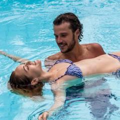 "Novela ""Sete Vidas"": Júlia (Isabelle Drummond) e Pedro ficam no maior clima na piscina!"