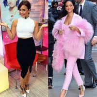 """Duelo de looks: Demi Lovato ou Rihanna? Quem se vestiu melhor no palco do """"Good Morning America""""?"""