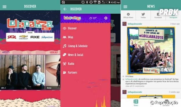 O Lollapalloza quer facilitar a vida de todo mundo e criou um app