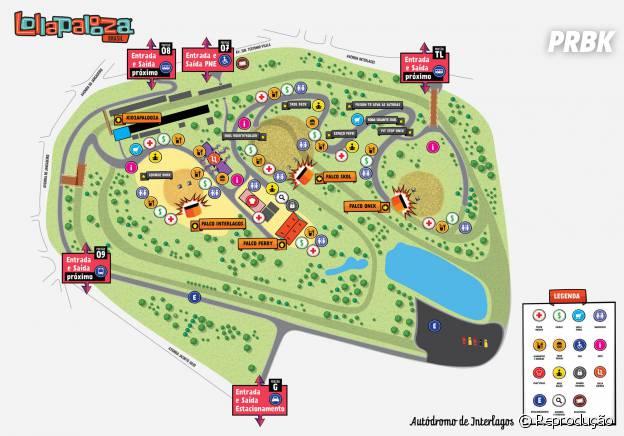 O palco Axe (antigo Interlagos), por exemplo, foi girado 45°, ficando em frente à área livre do Lollapalooza