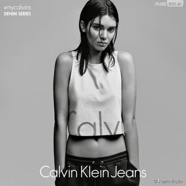 Kendall Jenner é a estrela da nova campanha da Calvin Klein Jeans