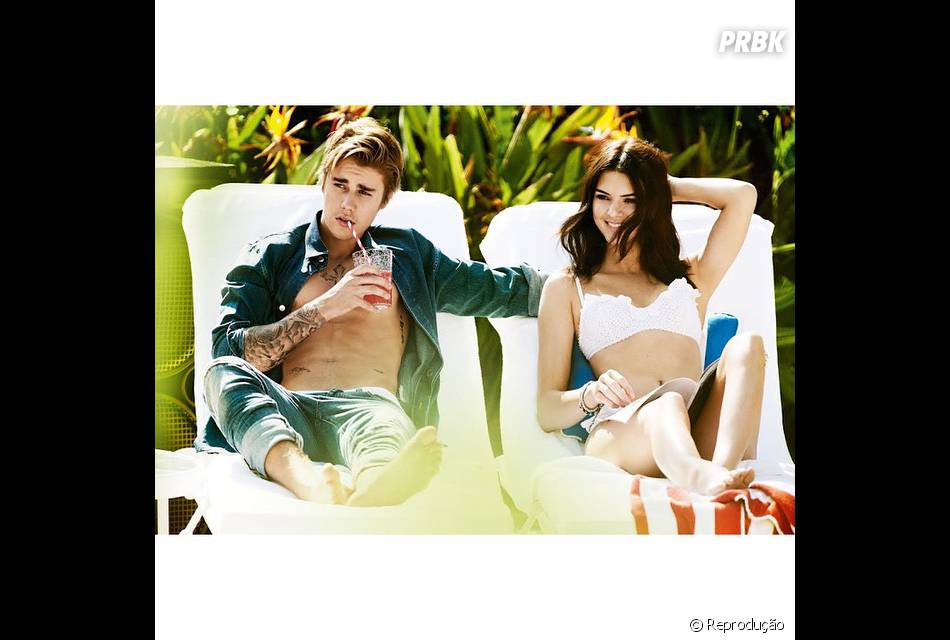 Justin Bieber e Kendall Jenner para a revista Vogue de abril