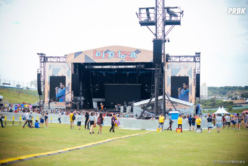O palco gigante do Lollapalooza 2015