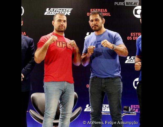 """Maurício Shogun e Rodrigo Minotauro são os técnicos do """"The Ultimate Fighter"""""""