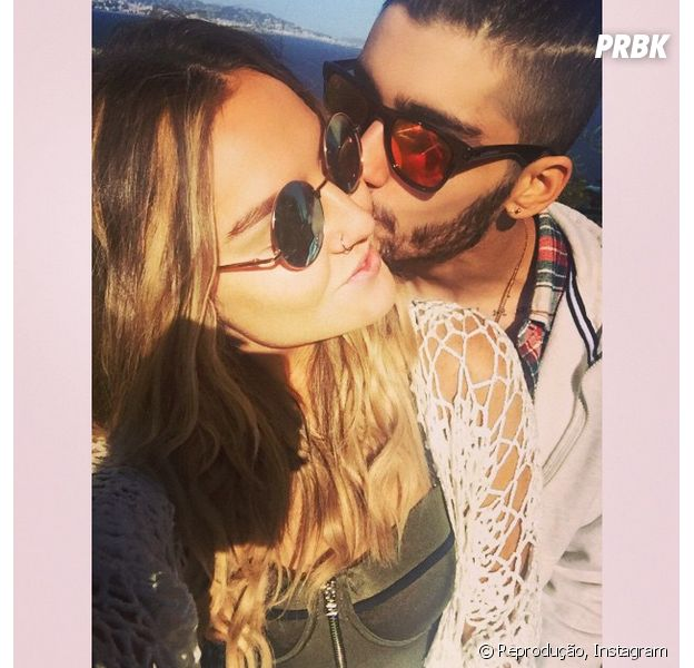 Pierre Edwards e Zayn Malik posam em clima de romance para o Instagram