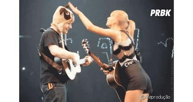 Taylor Swift e Ed Sheeran parceria