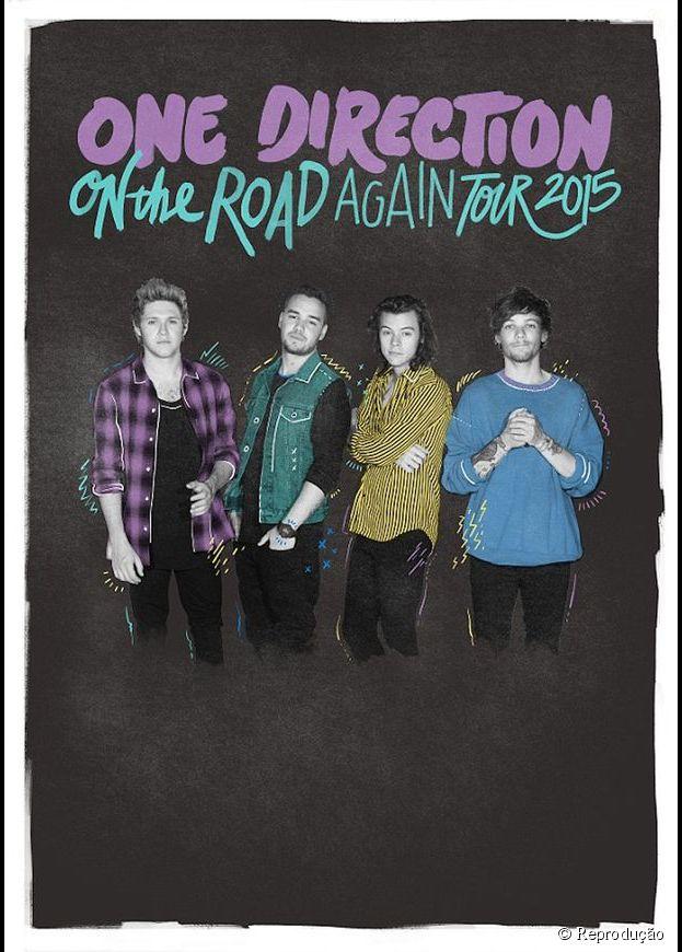 "One Direction, sem Zayn Malik, divulga pôster da turnê ""On The Road Again"""