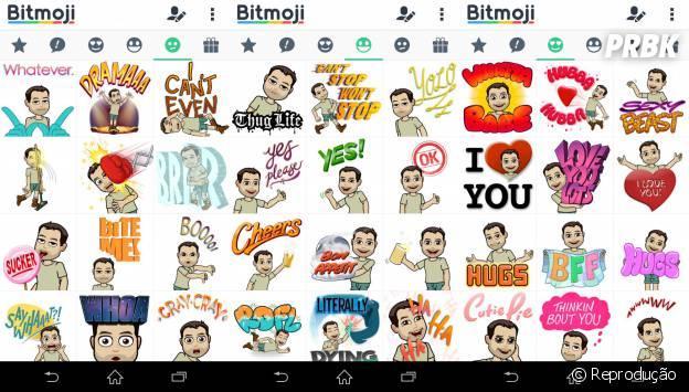 Através do app Bitmoji, dá pra criar vários memes e compartilhar no Whatsapp, Facebook Messenger e vários outros mensageiros!