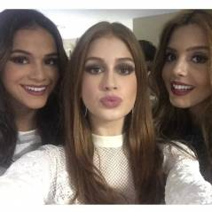 Marina Ruy Barbosa, Bruna Marquezine e Giovanna Lancellotti posam para selfie nos 50 anos da Globo