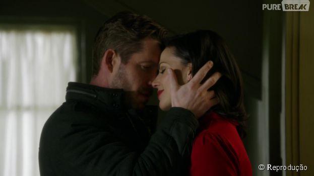 """Em """"Once Upon a Time"""", Regina (Lana Parrilla) vai fazer de tudo para voltar com Robin (Sean Maguire)"""