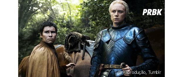 """Brienne e Pod, de """"Game of Thrones"""""""