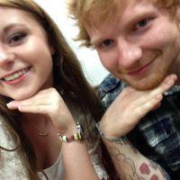 Fã de Ed Sheeran, Sydney Davis, tem dia de sonho ao lado do cantor