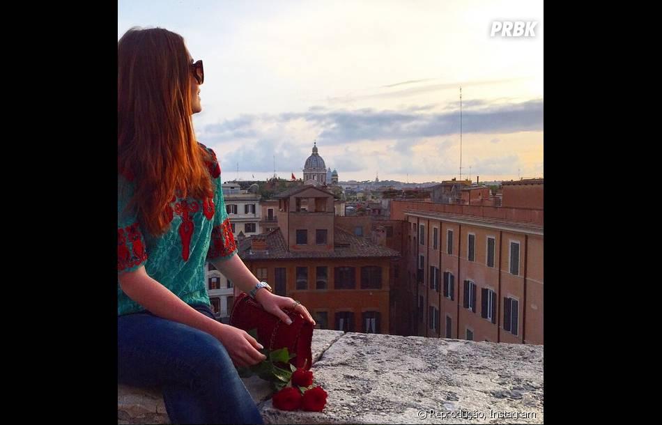 Marina Ruy Barbosa fez altas poses na Itália, onde está de férias com o namorado Caio Nabuco