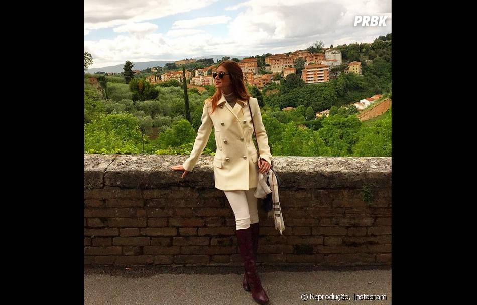 A atriz Marina Ruy Barbosa tirou várias fotos em pontos turísticos da Itália