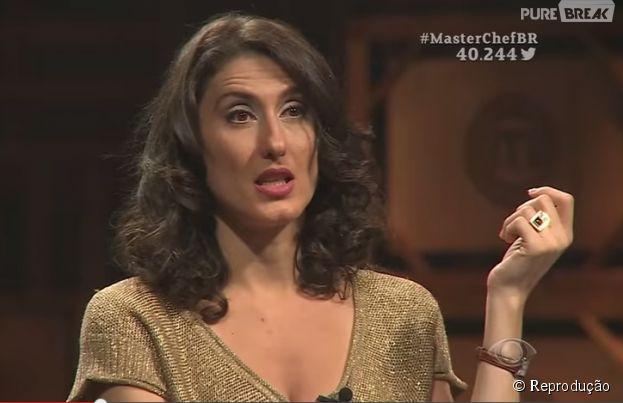 """Paola Carosella do """"MasterChef Brasil"""" é uma jurada bem carrasca"""