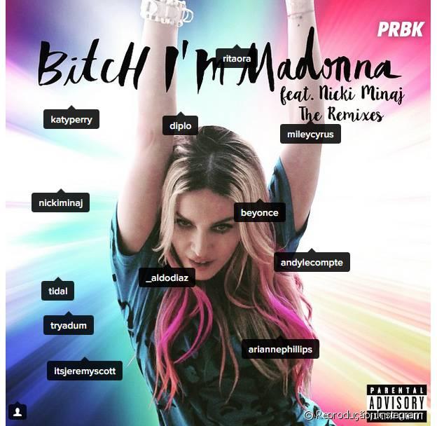 """Madonna faz lista misteriosa de possíveis participações no clipe de """"Bitch I'm Madonna"""""""
