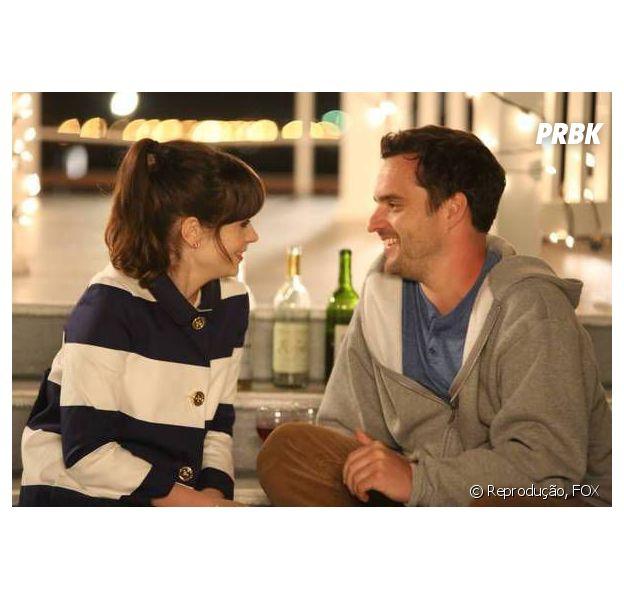 """Mesmo depois do fim do relacionamento, Jess (Zooey Deschanel) e Nick (Jake Johnson) vão ter momentos agradáveis em """"New Girl"""""""