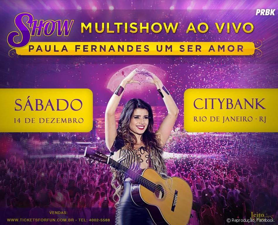 A cantora Paula Fernandes fará o show ao vivo do DVD ...