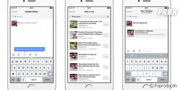 Aplicativo do Facebook para iOS procura links sem precisar sair da mesma tela