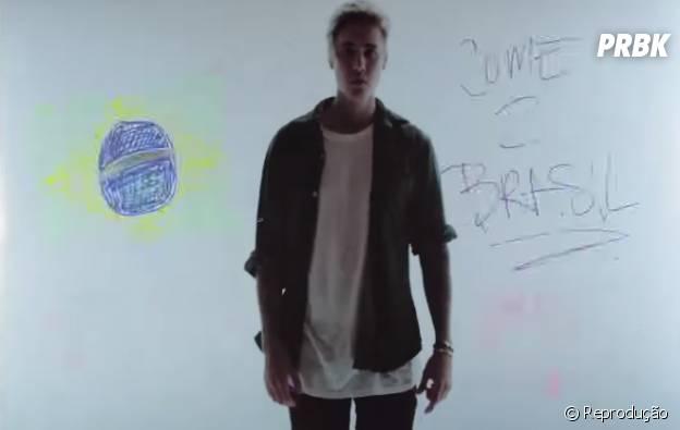 """Justin Bieber no clipe da música """"Where Are Ü Now"""""""