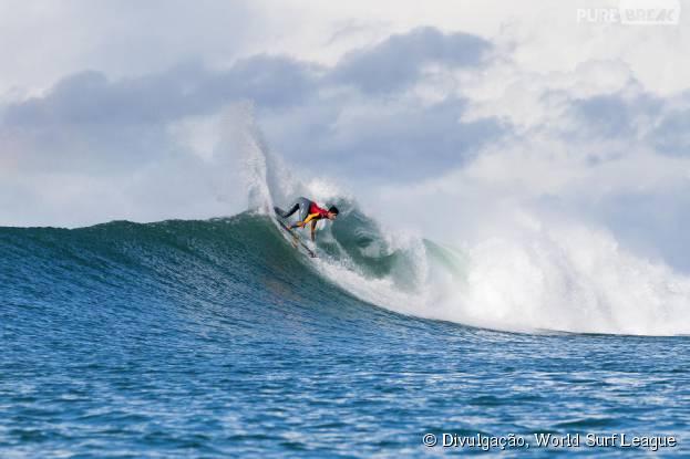 Gabriel Medina no Round 3 do Circuito Mundial de Surf 2015, na África do Sul