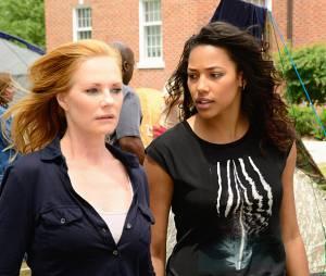 "Em ""Under The Dome"", Christine (Marg Helgenberger) e Eva (Kylie Bunbury) estão na mira deBig Jim (Dean Norris) e Julia (Rachelle Lefevre)"