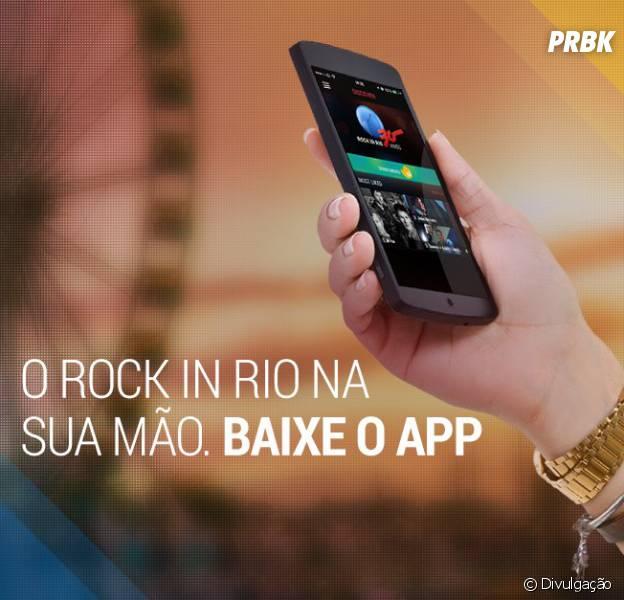 Rock in Rio laná aplicativo oficial do festival