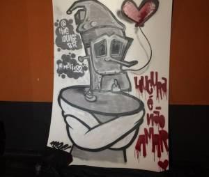 Uma série de intervenções artísticas (feitas na hora por grafiteiros) tomaram conta do salão do evento