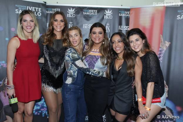 "Ivete Sangalo recebe Giovanna Ewbank, Carolina Dieckmann, Preta Gil, SamanthaSchmütz e Fernanda Paes Leme no show ""Chá da Alice"""