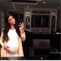 Kim Kardashian posta foto nua no Instagram e exibe barrigão da segunda gravidez
