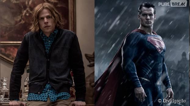 """Lex Luthor (Jesse Eisenberg) pode descobrir a verdadeira identidade do Super-Homem (Henry Cavill), em """"Batman Vs Superman"""""""