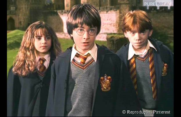 Em 2001, Harry, Hermione e Rony se tornaram os bruxos mais famosos do mundo